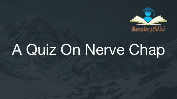 A Quiz On Nerve Chapter